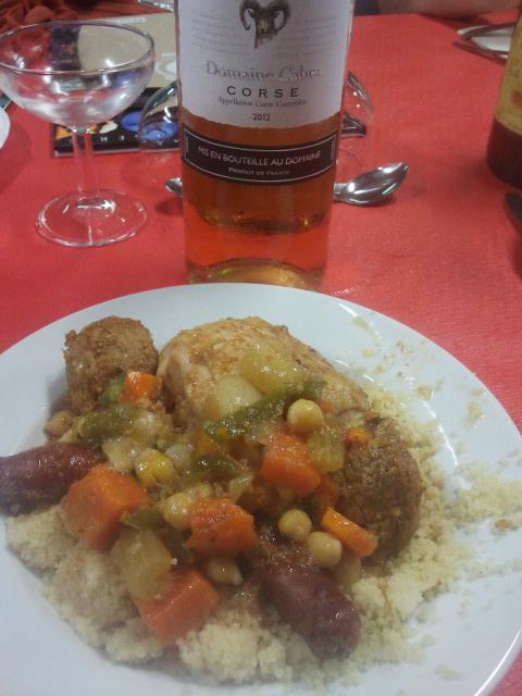 Assiette couscous